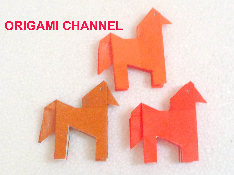 ORIGAMI HORSE EASY PAPER TUTORIAL