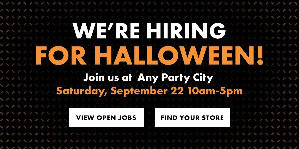 Now Hiring Job Opening Online Party Store Party Stores