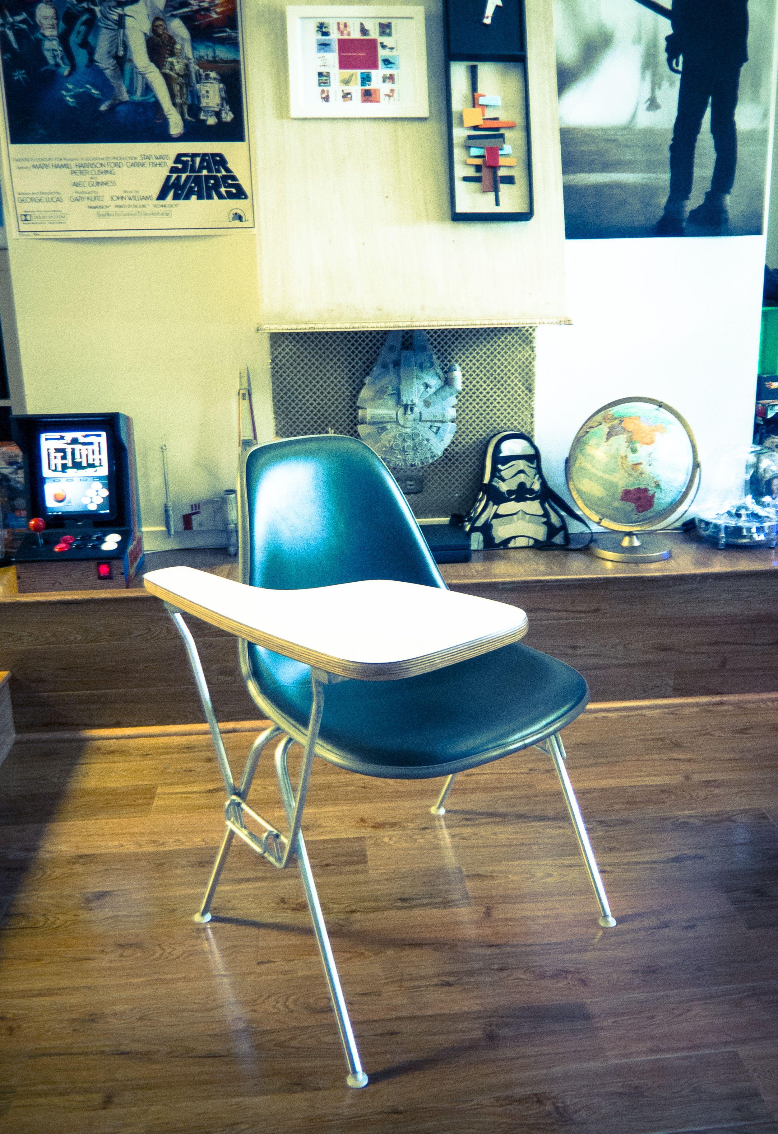 Vintage Herman Miller Fiberglass Eames DSS School Desk