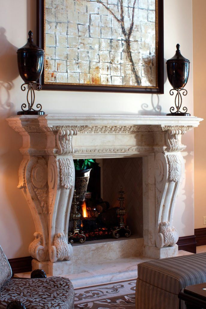 French Provincial Stone Fireplace Mantels - BT Architectural Stone