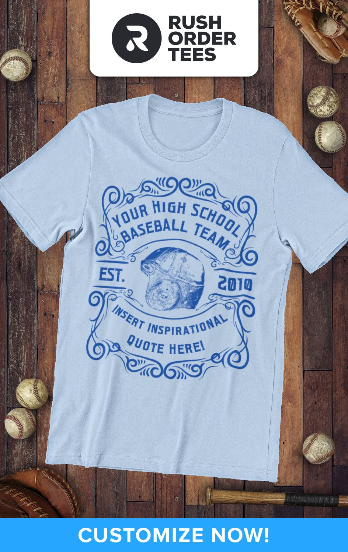 High school baseball team custom tshirts that look