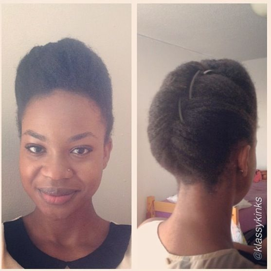 SIMPLE NATURAL UPDO