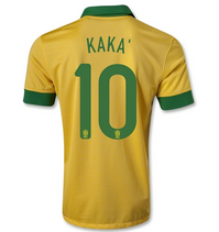 0fe78b15251 Brazil national team 2013-14  10 KAKA YELLOW HOME JERSEY  888820039 ...