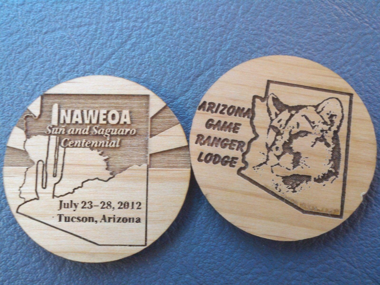 LaserEngraved Custom Laser Engraved Wood or Plastic Coins | Laser