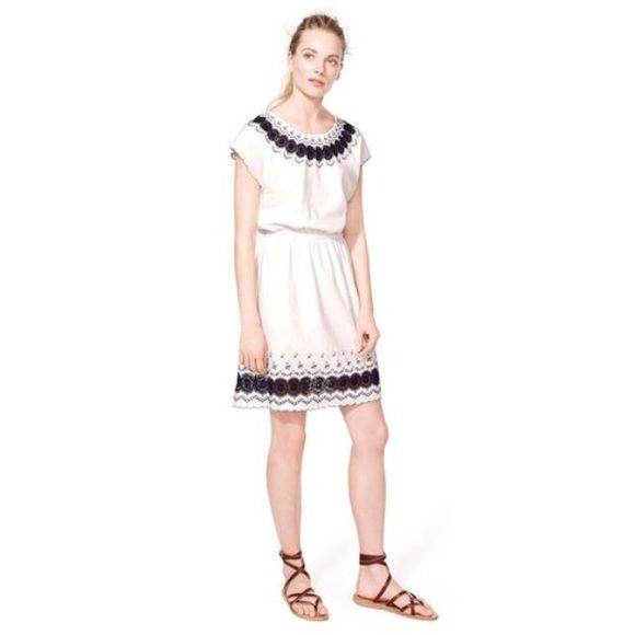 J crew embroidered scallop dress pictures