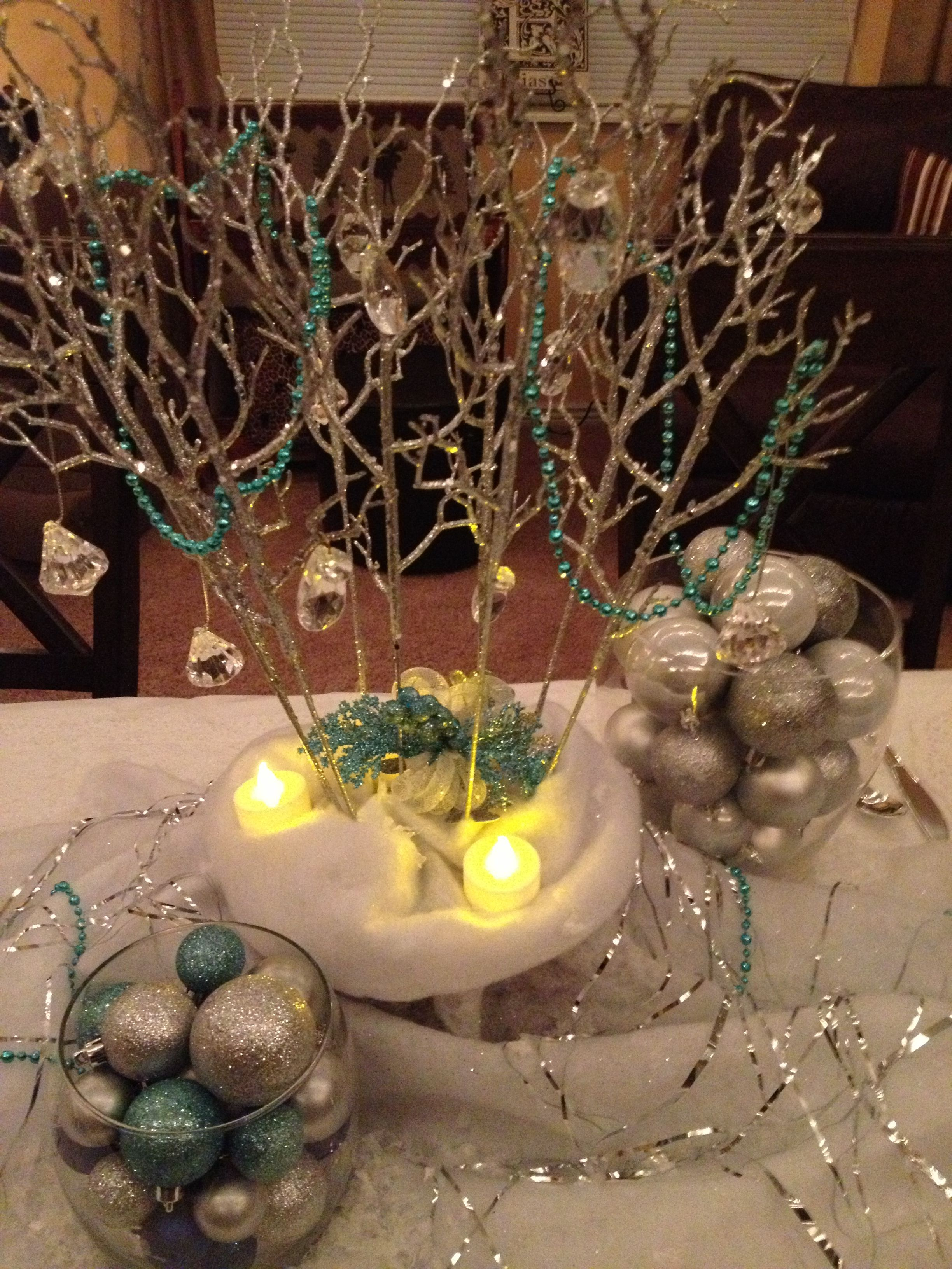 Winter Ball Table Centerpiece
