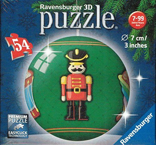 Ravensburger 3D 54-pc Holiday Ball Puzzle Soldier Comfy Christmas