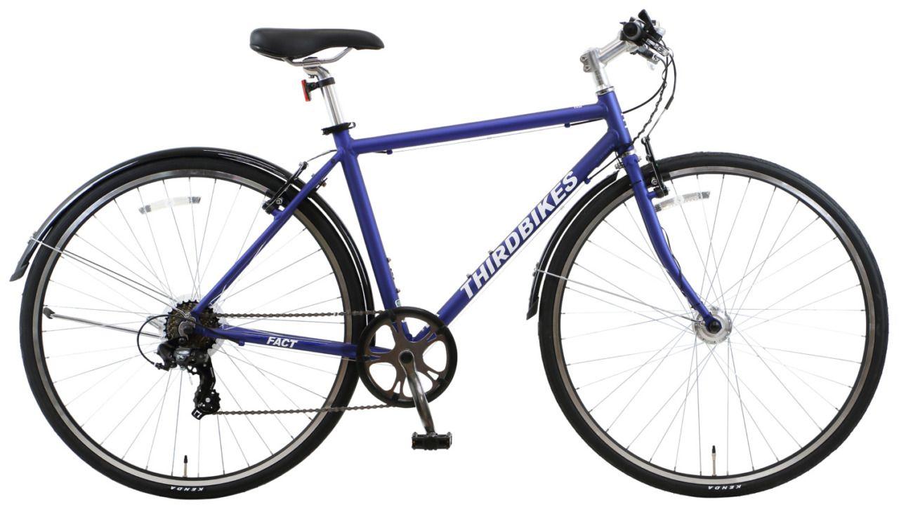 日常の利便性を重視した泥よけ ライト付きクロスバイク Thirdbikes Fact 自転車 バイク スポーツバイク
