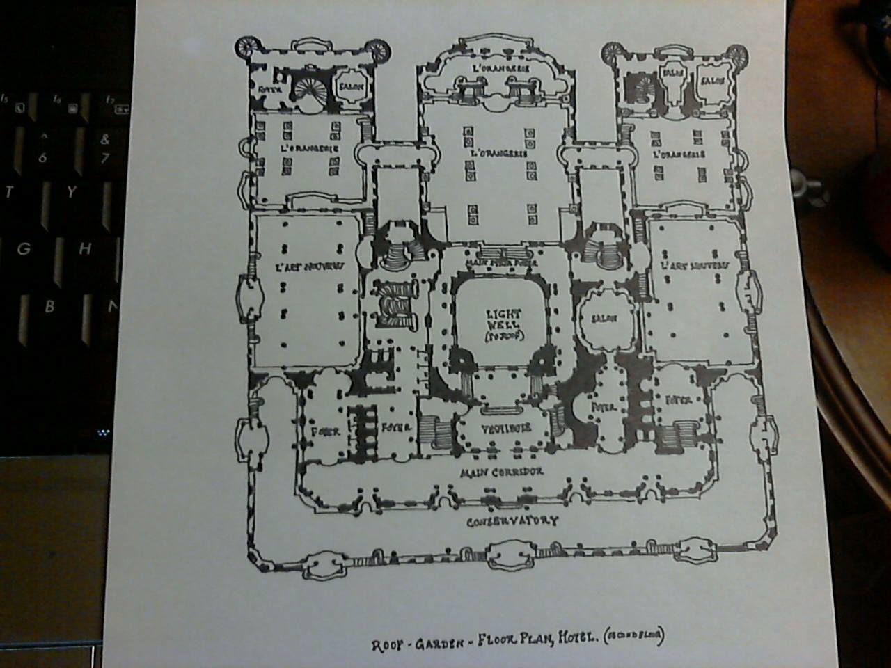 The Roof Garden Second Floor Schematic Plan Of Hotel