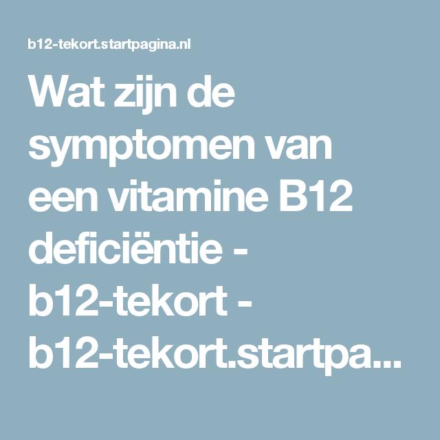 b12 tekort aanvullen