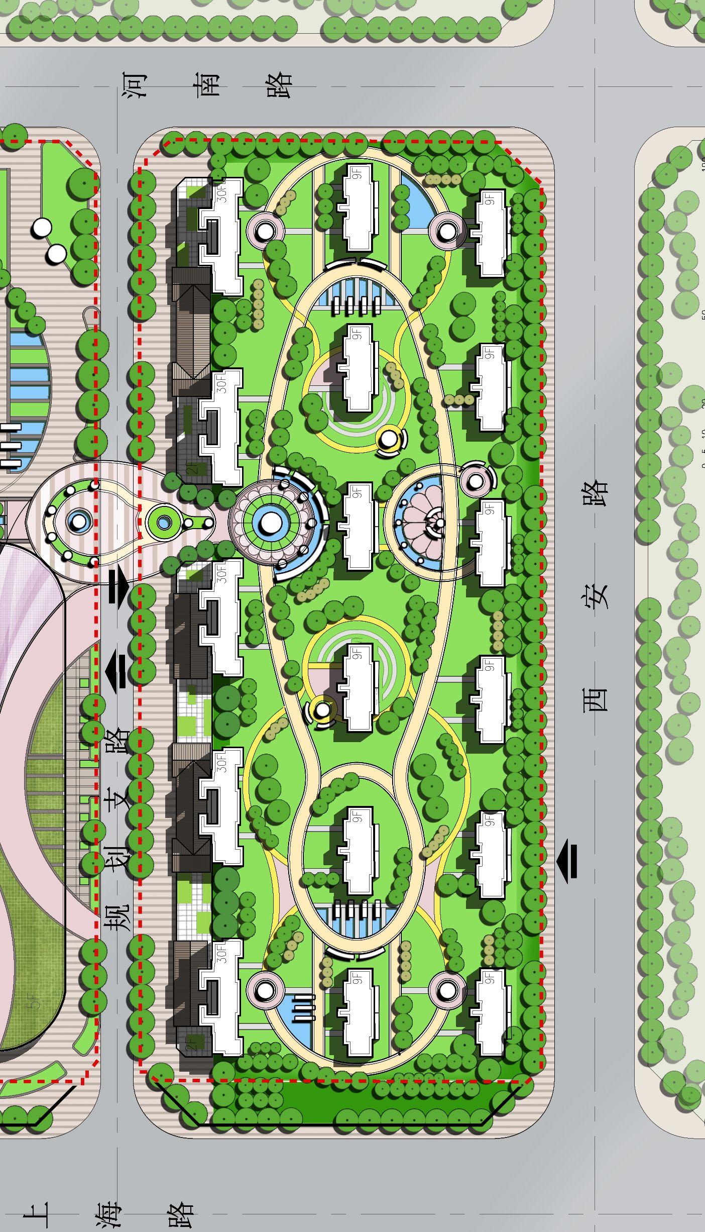 Landscape Design Masterplan Mixed Use Development Modern