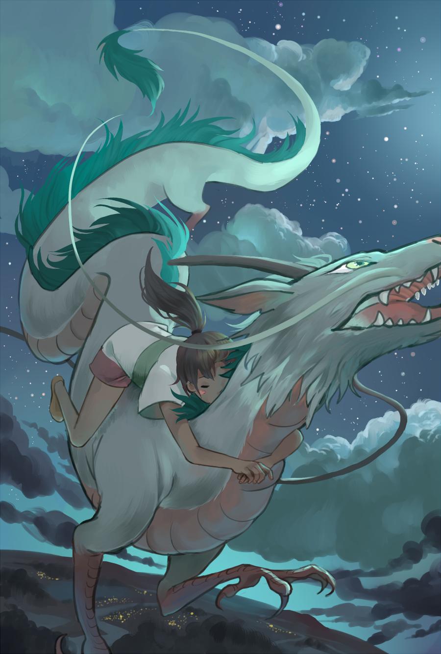 Spirited Away - Chihiro and Haku - by 77chen   Studio ...