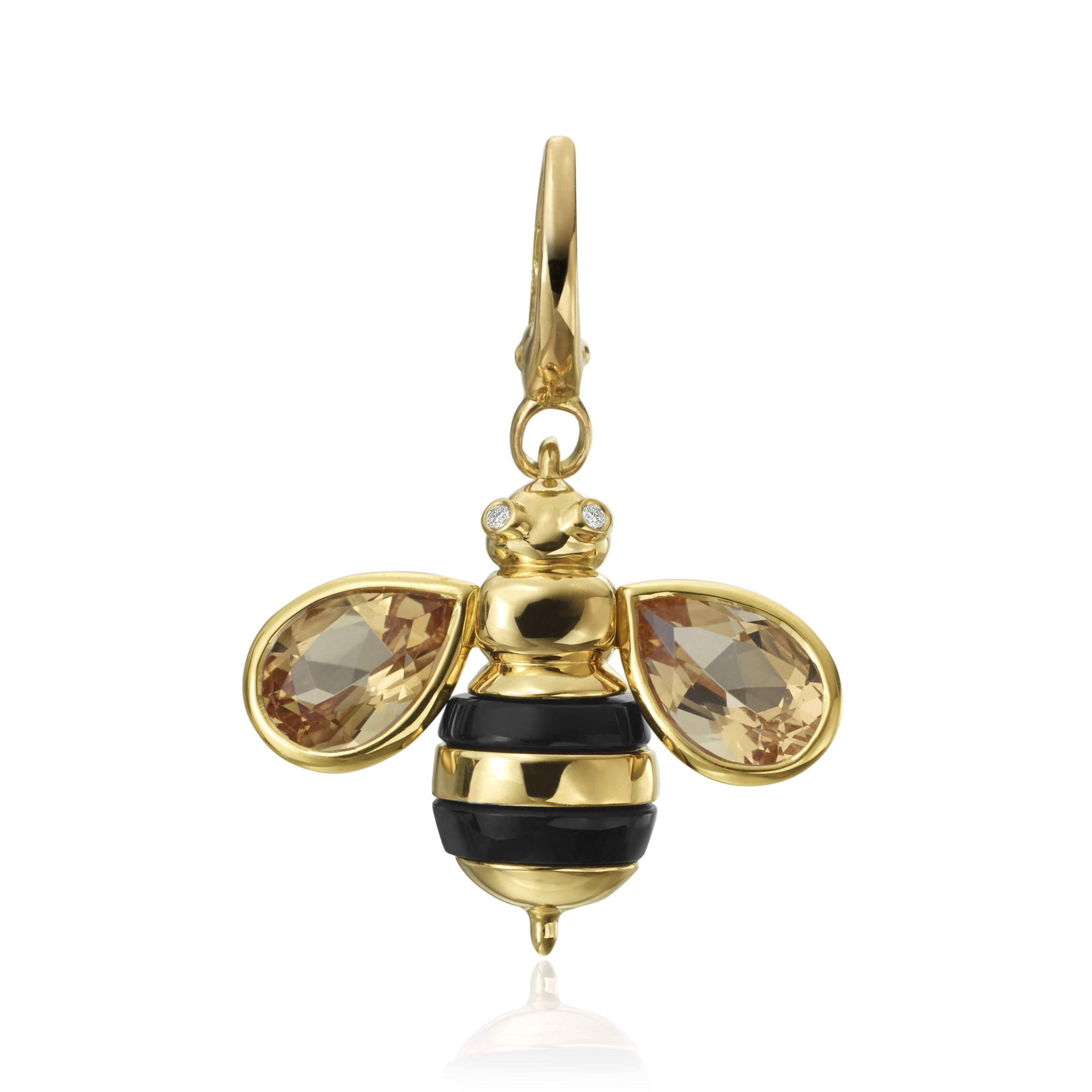 bee pendant gold rose cocomi honey up burtonhoneycomb honeycomb necklace products olivia close