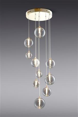 Buy spheres 10 light led cluster pendant from the next uk online shop