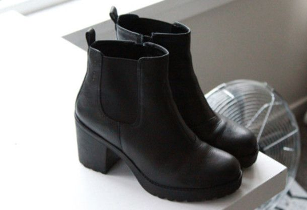 3f1cdc376e35 Shoes  black shoes, black chelsea, black boots, boots, black ...