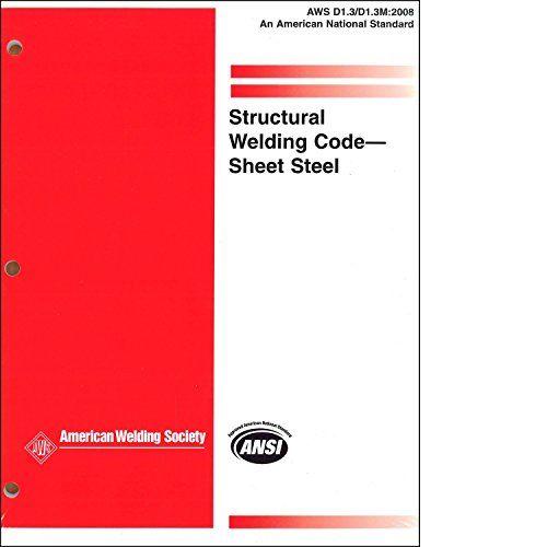 Aws D1 3 D1 Structural Welding Code Sheet Steel