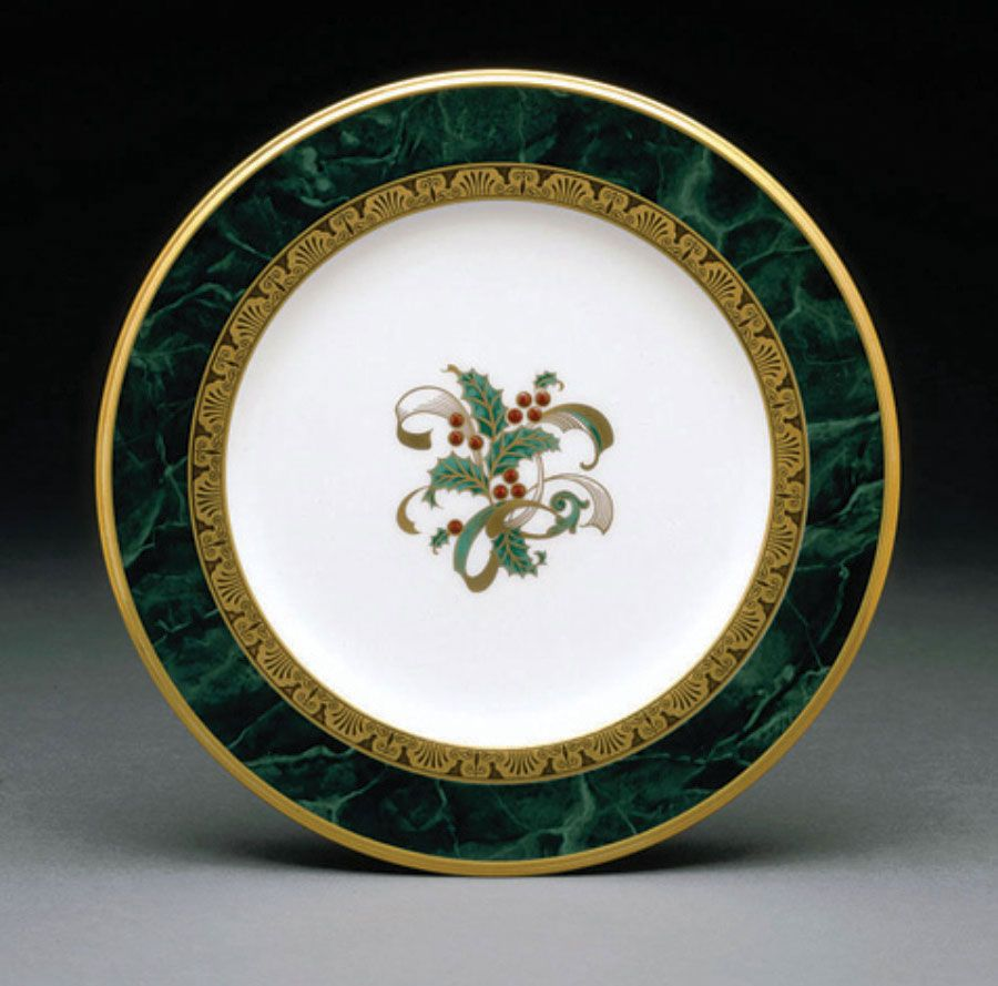 """Noritake Fitzgerald Holiday Holly Accent Plates 8 1//2/"""" Set of 4"""