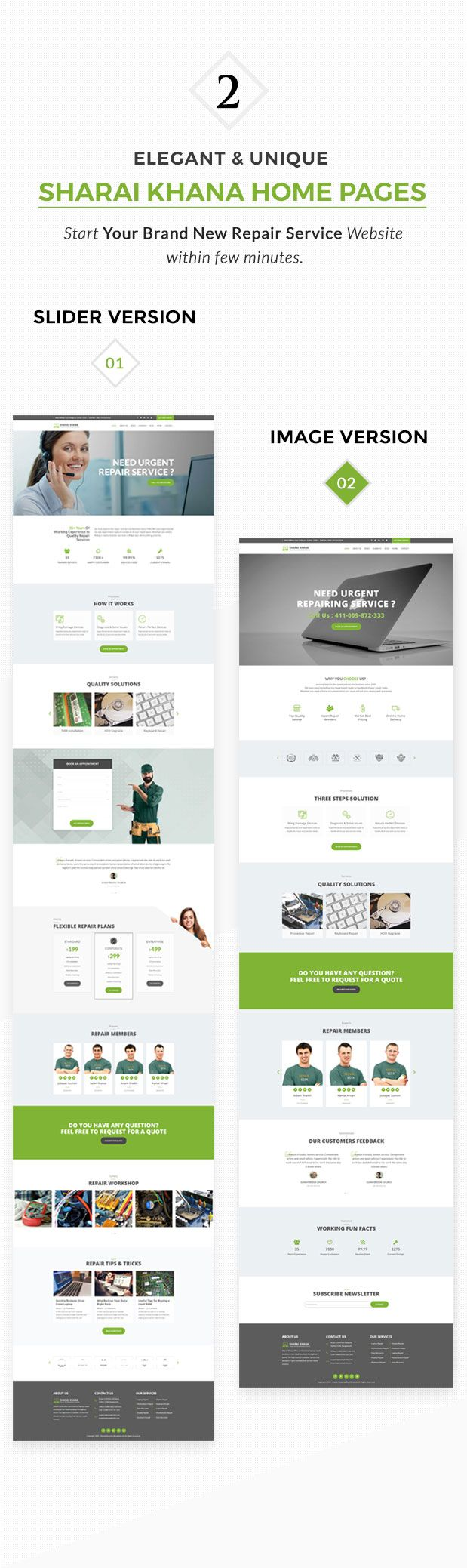 Sharai Khana - Computer Service Center WordPress Theme | Pinterest