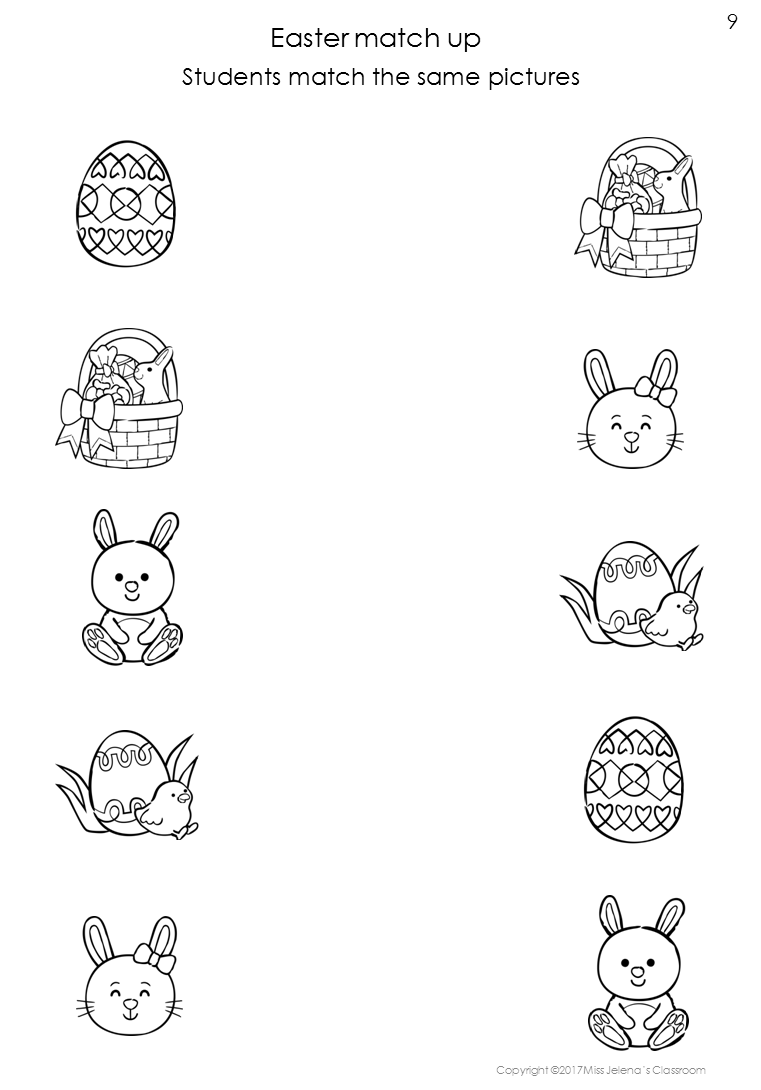 Free Sample Easter Same or Different Worksheets Kids