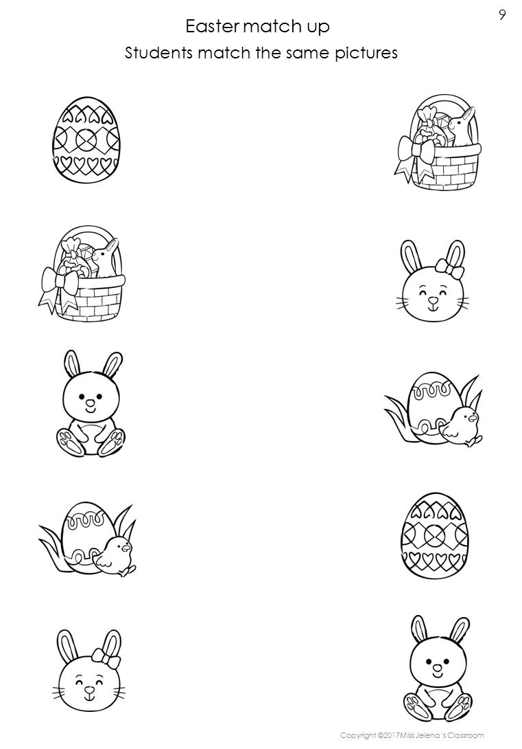 FREE SAMPLE - Easter Same or Different Worksheets   Preschool worksheets [ 1090 x 761 Pixel ]