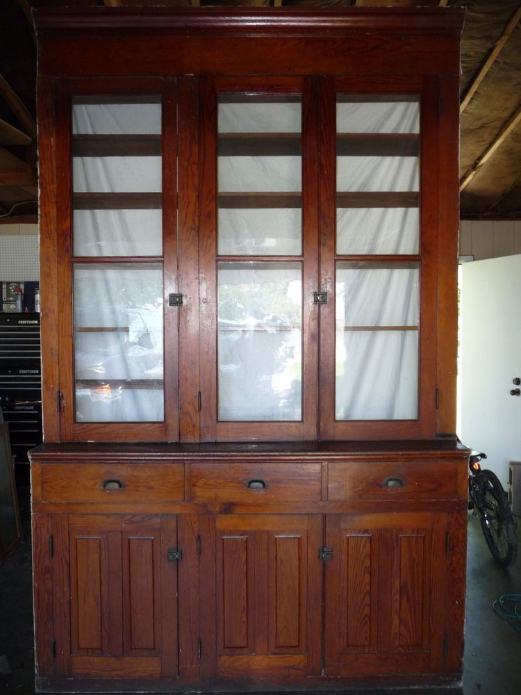 Antique Butlers Pantry Cabinet - Fir all Original Architectural Salvage - Antique Butlers Pantry Cabinet - Fir All Original Architectural