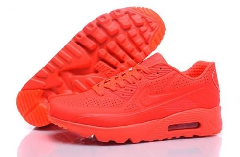reputable site 7bb72 ce082 Nike Air Max 90 Ultra Moire White Black Red Men Running Shoes Sneakers  819477-013 - Fushoes