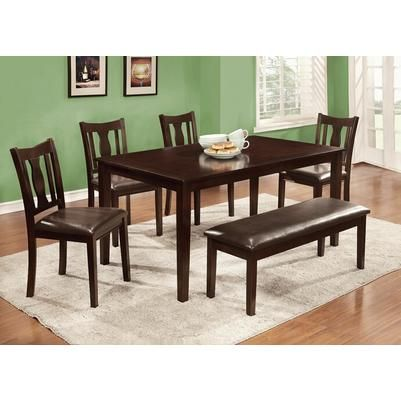 Foa 6 Pc Northvale Ii Transitional Style Espresso Finish Wood Impressive Espresso Dining Room Sets Review