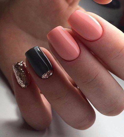 Идеи маникюра  manicura de uñas uñas de gel y uñas lisas