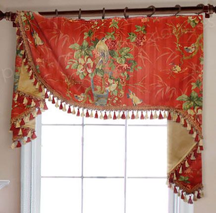 Flat Swag Valance On Rings Valance Window Treatments Window