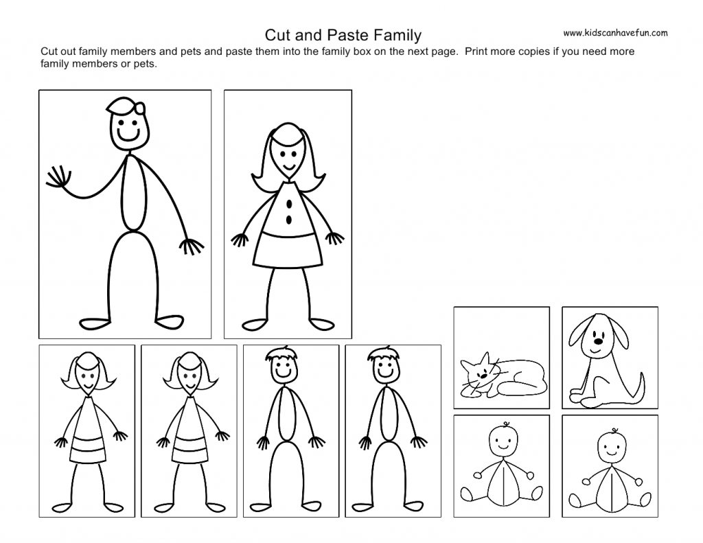 cut-and-paste-family_page0 | Preschool | Pinterest