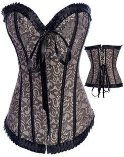gothic fashion corsets grey sweetheart fascinating