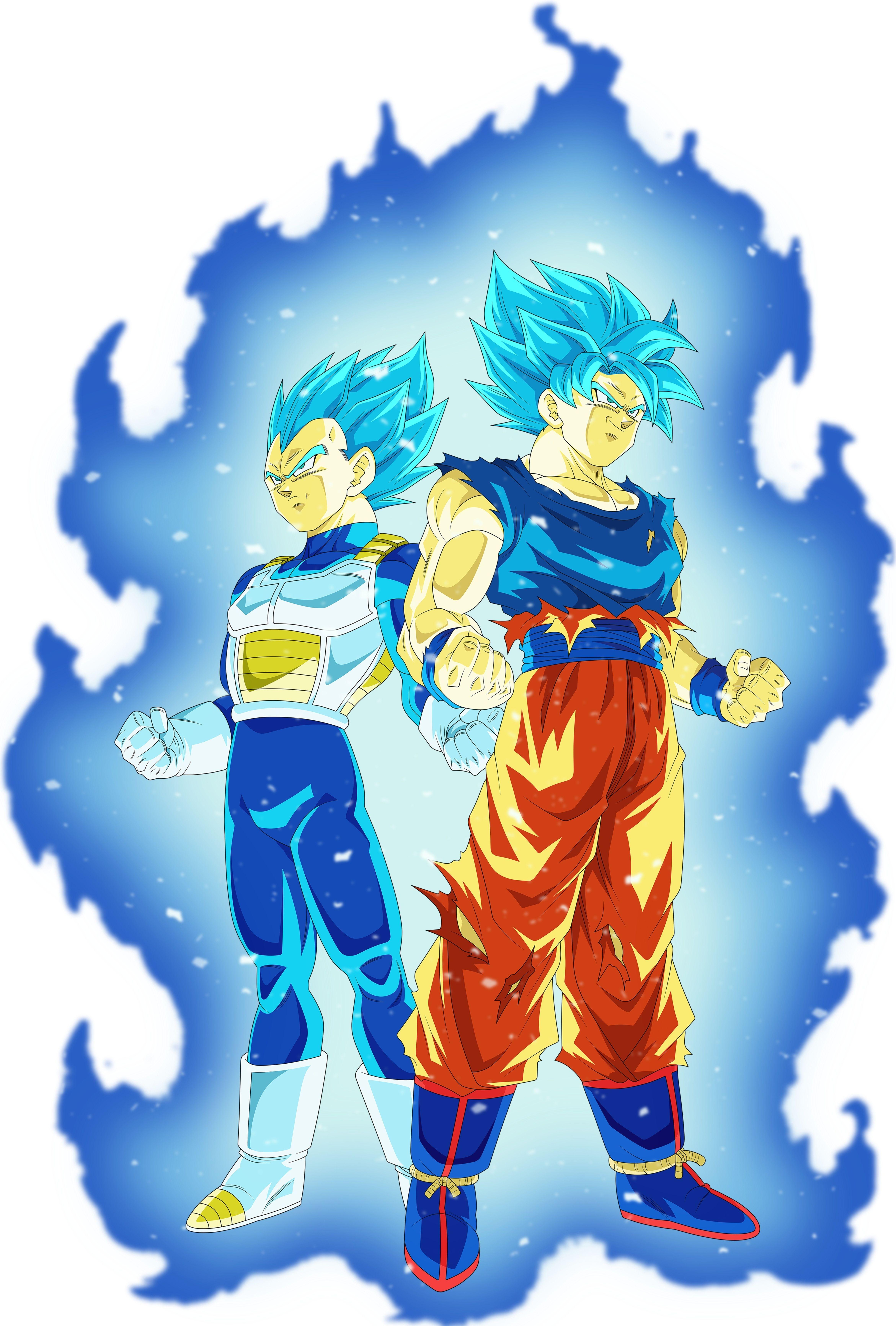 Vegeta Ssj Blue Goku Ssj Blue Universo 7 Dragon Ball Super Manga Anime Dragon Ball Super Dragon Ball Art Goku