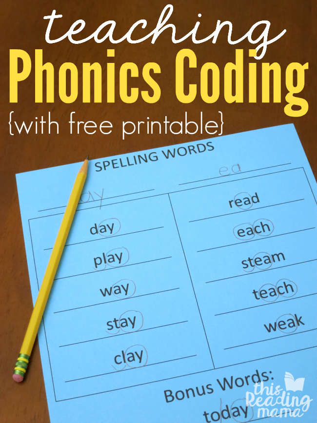 Spelling and Word Study Printables Teaching phonics
