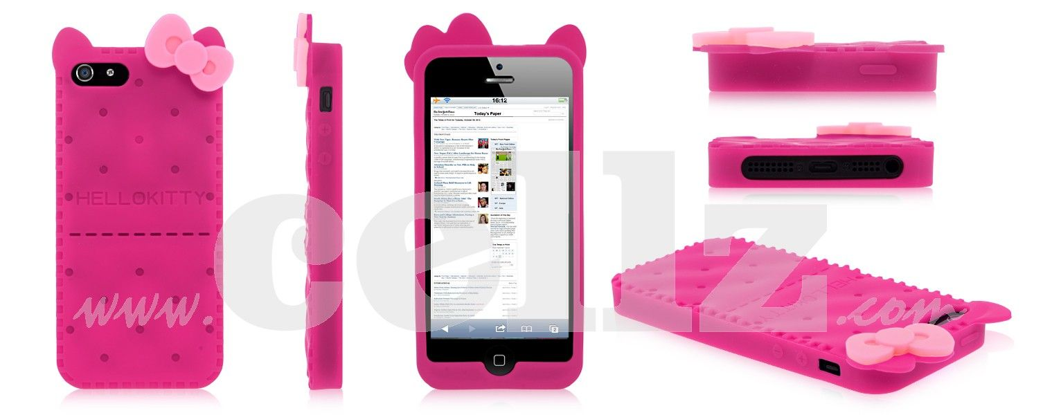 Silicone Kitty Cat Case for iPhone 5