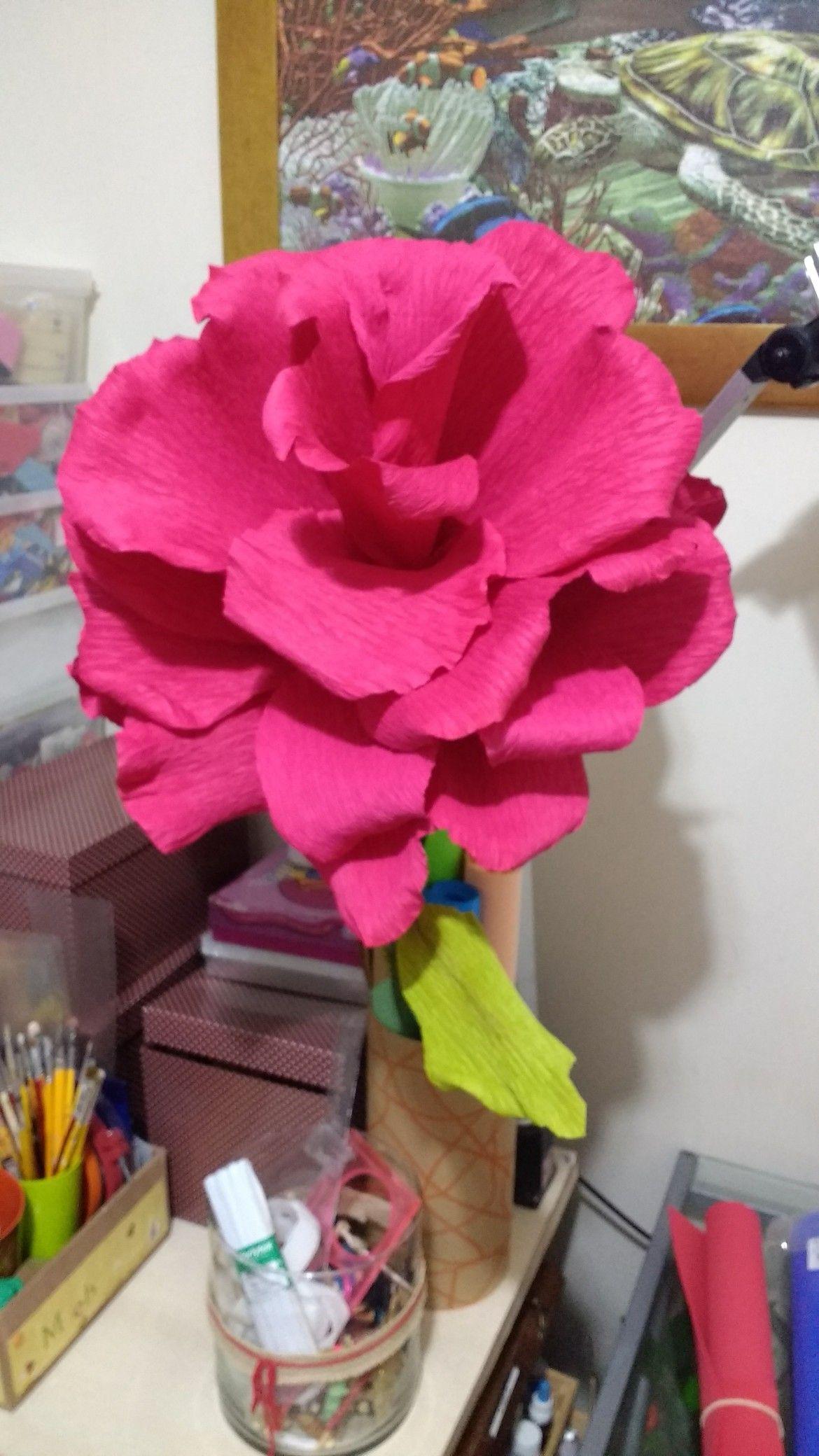 Flor gigante crepom