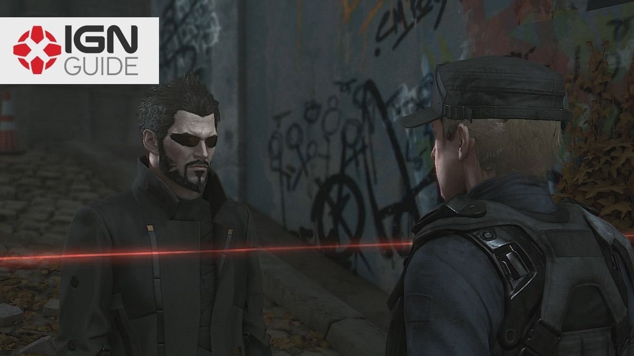Deus Ex: Mankind Divided Ghost Walkthrough - Side Mission 1: The Golden Ticket (Part One) IGN's non lethal ghost walkthrough for Deus Ex: Mankind Divided's side missions. In Side Mission 1: The Golden Ticket Adam runs into a phony police checkpoint where a man is extorting augs for fake passes. August 23 2016 at 05:05AM  https://www.youtube.com/user/ScottDogGaming