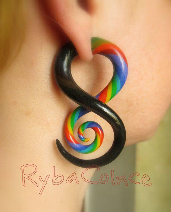 Fake ear gauge / Faux gauge/Gauge earrings / fake by RybaColnce, $17.00