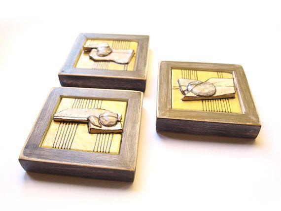 Modern Ceramic (set of 3 ),Ceramic tile wall art, Ceramic art ...