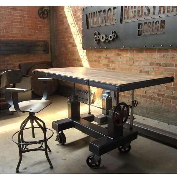 Vintage Industrial Cafe Tables