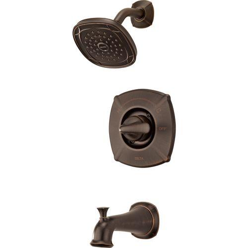 Lowes Delta Celice Venetian Bronze 1 Handle Tub Shower Faucet With Single Function Showerhead Item 3567 Tub And Shower Faucets Shower Faucet Water Sense