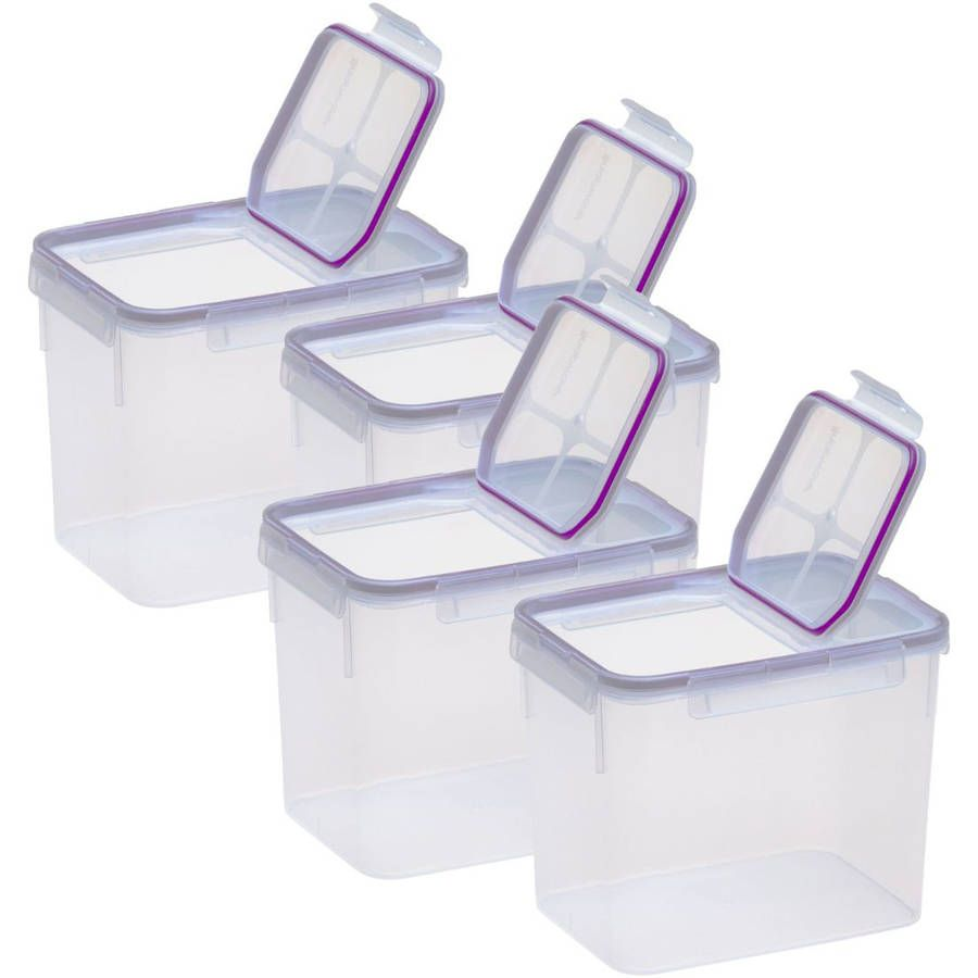 Snapware Airtight Plastic 17 Cup Fliptop Food Storage Container, 4 Pack