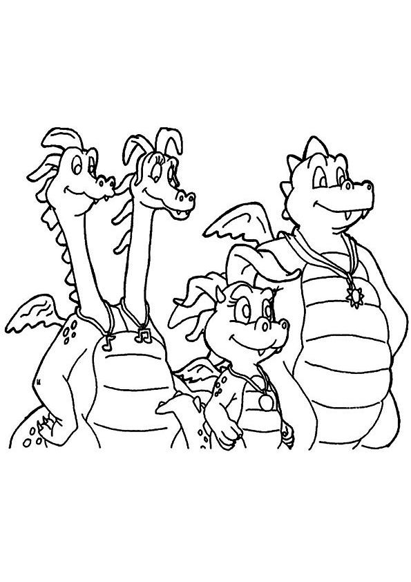 print coloring image | Dragon tales