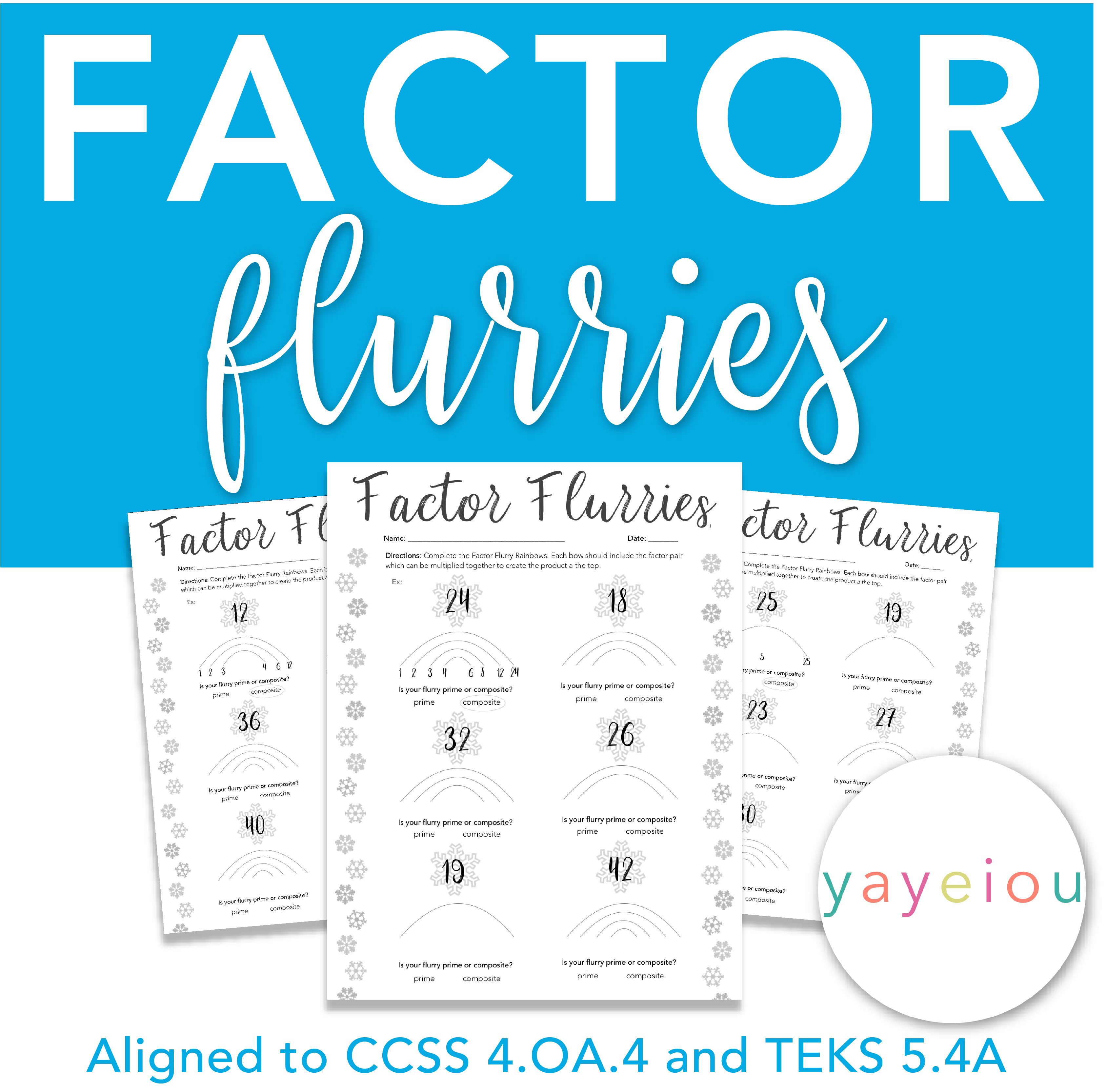 Free 4 Oa 4 Factor Flurries