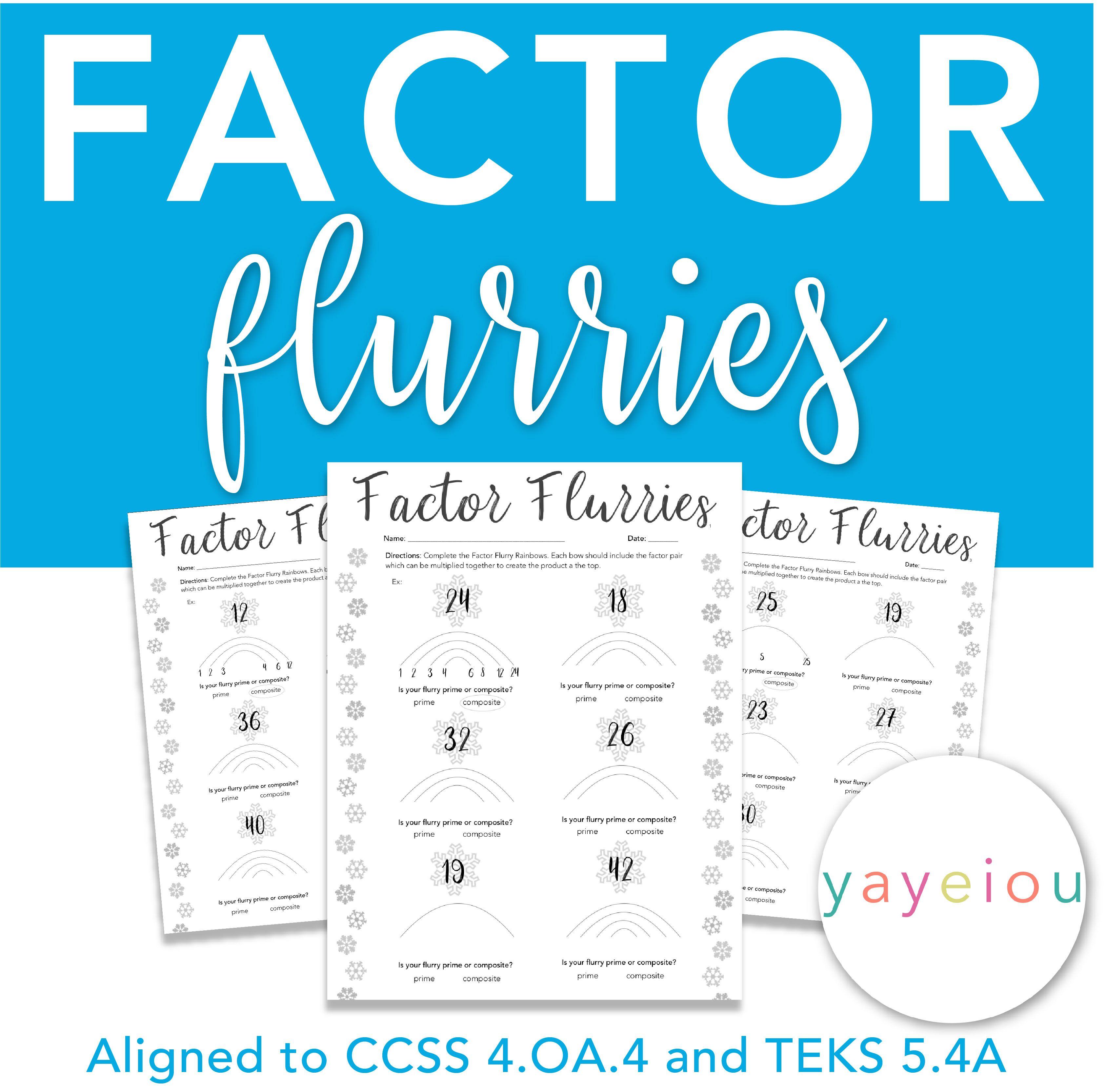 Free 4 Oa 4 Factor Flurries