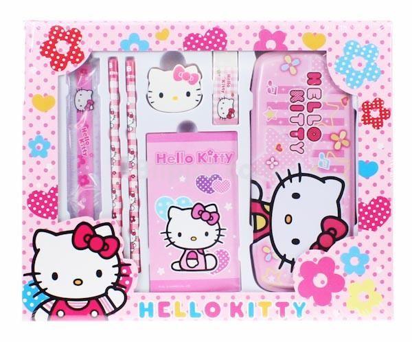 hello kitty school supplies set kawaii stationery