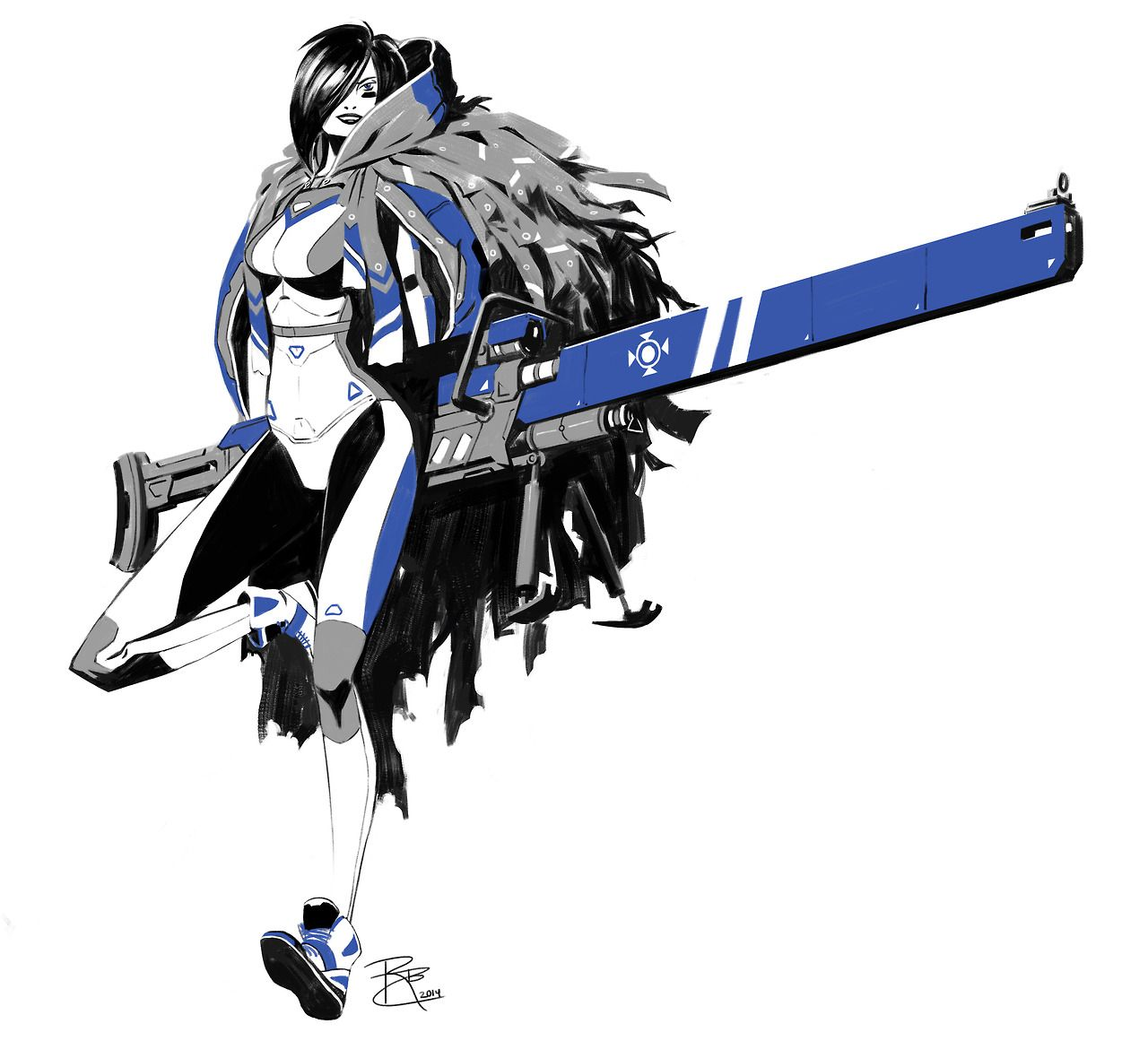 Chicks with Guns by Robert Chew Character design