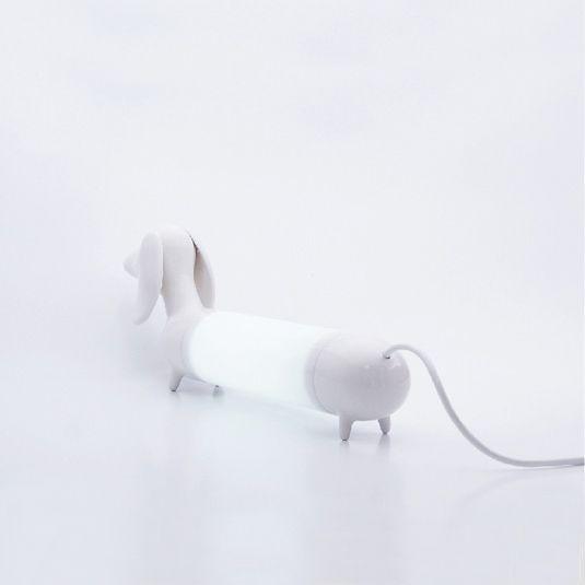 #witte #lamp In De Vorm Van Een #teckel, Fantastisch Cadeau Voor Elkeu2026