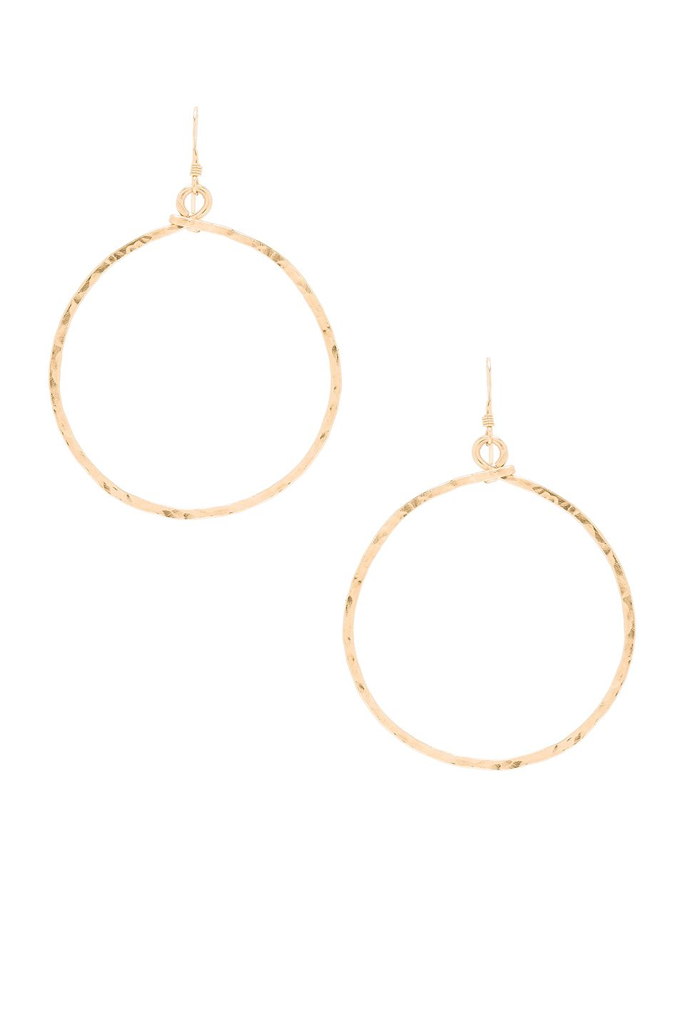 Mimi & Lu Echo Hoop Earrings in Gold | REVOLVE