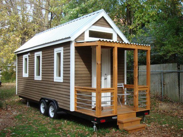 Set Atop A Trailer For Easy Moving This All Natural 2 Bedroom Home Is Going For 55 000 Buy A Tiny House Best Tiny House Tiny House Trailer