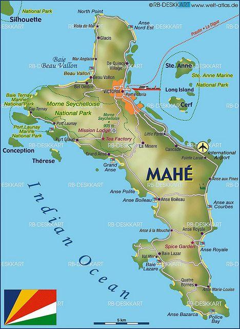 Mahe Island Map Islas Viajes Y Turismo